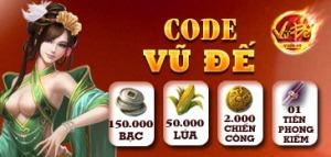 Game chiến thuật online Vũ Đế phát code game - thẻ tân thủ tại kho web game Zing Appstore